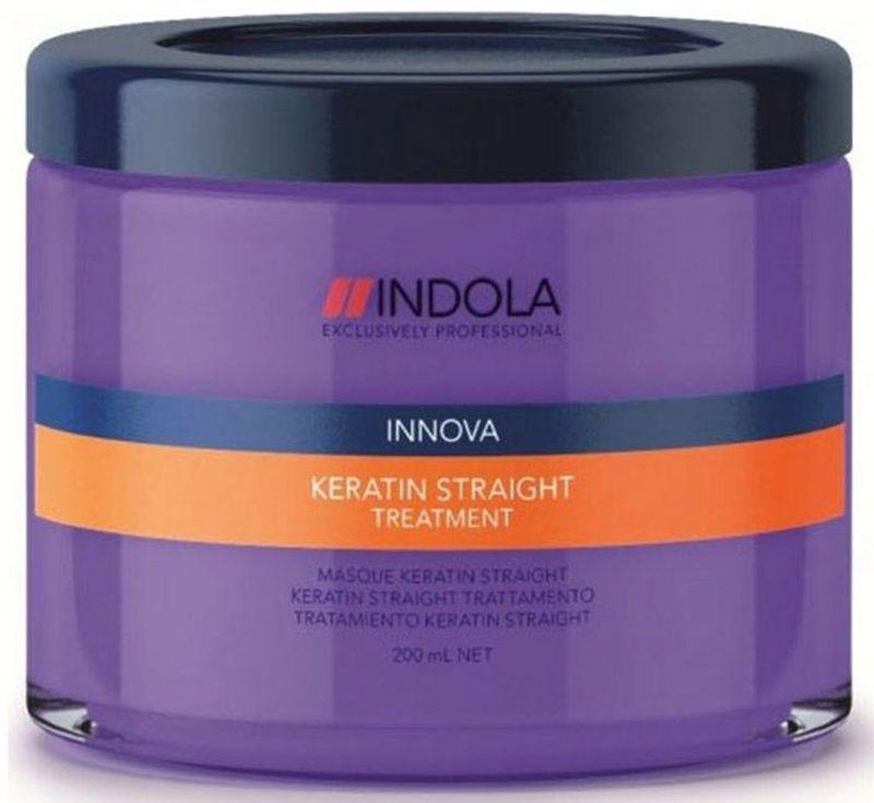 Indola Маска Кератиновое выпрямление Keratin Straight Treatment 200 мл1613478Indola Маска Кератиновое выпрямление. Содержащая кератин-полимер комплекс формула покрывает волосы защитным слоем, который выпрямляет и защищает волосы от завитков на 48 часов. Обеспечивает гладкость, блеск и здоровый вид. Для всех типов волос. Рекомендуется использовать в комплексе с шампунем Indola Keratin Straight.