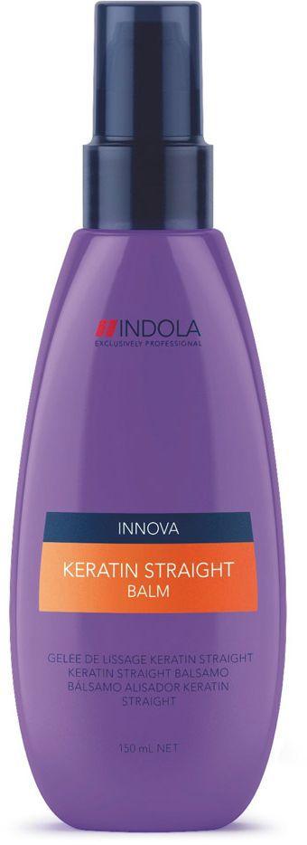 Indola Бальзам Кератиновое выпрямление Keratin Straight Balm 150 мл1613484Indola Бальзам Кератиновое выпрямление. Содержащая кератин-полимер комплекс формула покрывает волосы защитным слоем, который выпрямляет и защищает волосы от завитков на 48 часов. Обеспечивает гладкость, блеск и здоровый вид. Для всех типов волос. Рекомендуется использовать в комплексе с шампунем Indola Keratin Straight.