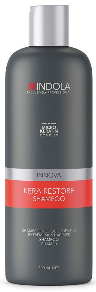 Indola Шампунь Кератиновое Восстановление Kera Restore Shampoo 300 мл мыло kera sys где