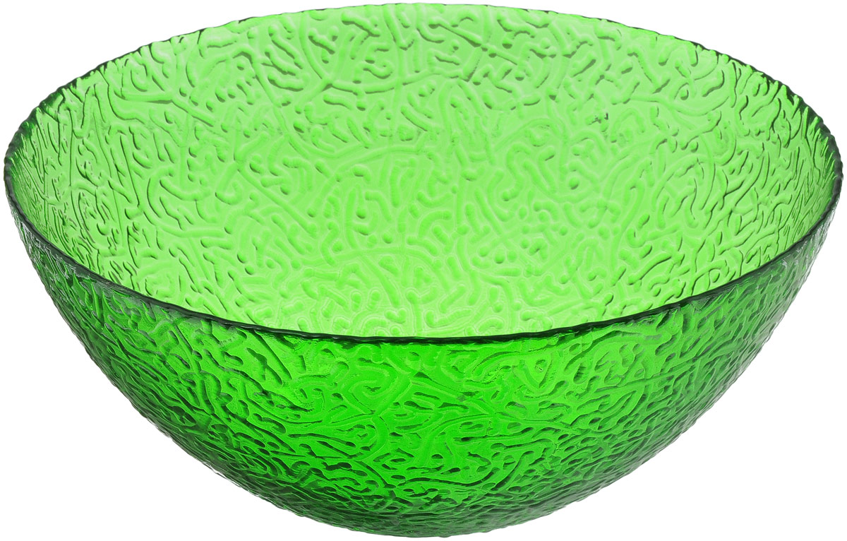 Салатник NiNaGlass Ажур, цвет: зеленый, диаметр 25 см ваза ninaglass дана цвет шоколад высота 16 см