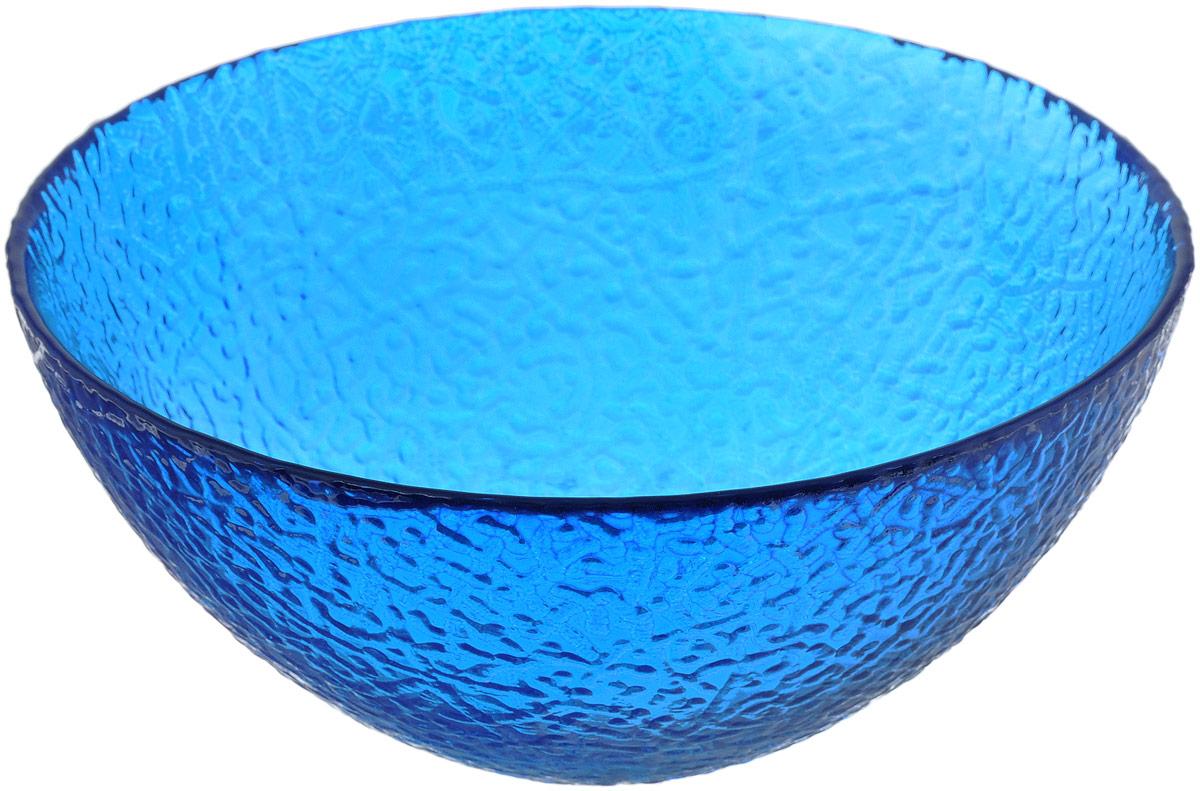 Салатник NiNaGlass Ажур, цвет: синий, диаметр 20 см83-042-Ф200 СИНСалатник NiNaGlass Ажур выполнен из высококачественного стекла и декорирован рельефным узором. Идеален для сервировки салатов, овощей и фруктов, ягод, вторых блюд, гарниров и многого другого. Он отлично подойдет как для повседневных, так и для торжественных случаев.Такой салатник прекрасно впишется в интерьер вашей кухни и станет достойным дополнением к кухонному инвентарю.Диаметр салатника (по верхнему краю): 20 см.Высота стенки: 9 см.