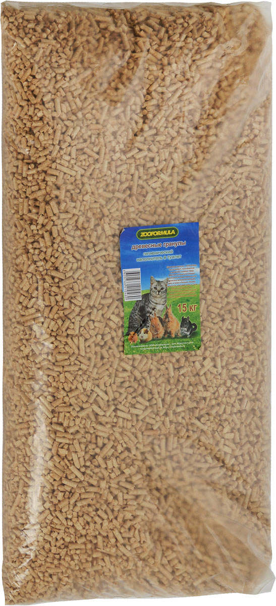 Наполнитель для туалета Zooformula, древесный, 15 кг наполнитель зооник древесный 5л 06234