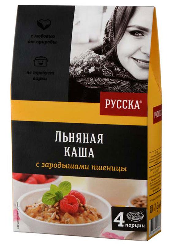 Русска каша льняная с зародышами пшеницы, 200 г масло кунжутное русска 250мл