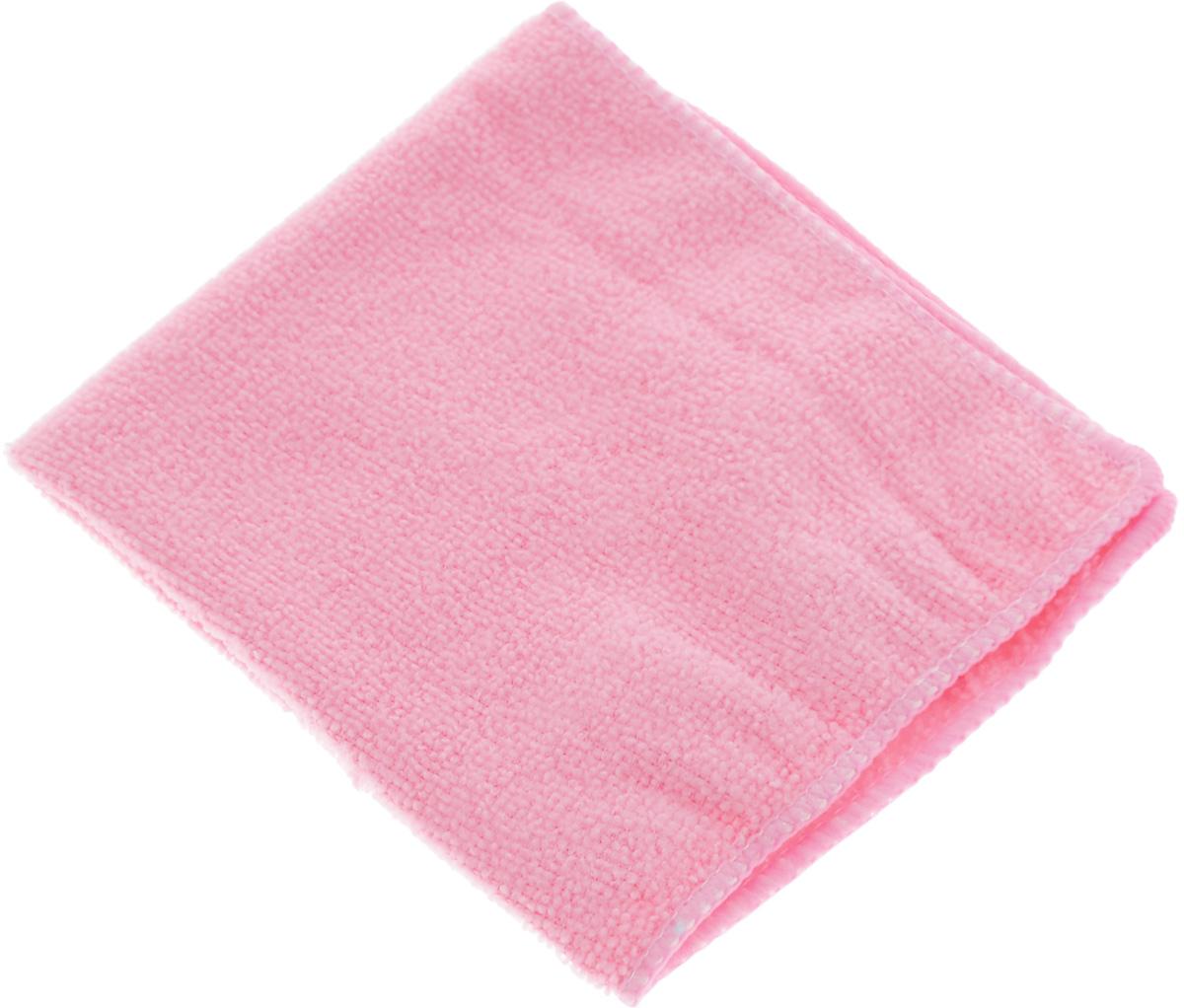 Салфетка для уборки Youll love, цвет: розовый, 30 х 30 см58043_розовыйСалфетка Youll love, изготовленная из микрофибры (100% полиэфир), предназначена для очищения загрязнений на любых поверхностях. Микрофибра - великолепная гипоаллергенная ткань из тончайших полимерных микроволокон. Многочисленные поры между микроволокнами, благодаря капиллярному эффекту, мгновенно впитывают воду, подобно губке. Любые капельки, остающиеся на очищаемой поверхности, очень быстро испаряются, и остается чистая дорожка без полос и разводов. В сухом виде при вытирании поверхности волокна микрофибры электризуются и притягивают к себе микробы, мельчайшие частицы пыли и грязи. Изделие обладает высокой износоустойчивостью и рассчитано на многократное использование, легко моется в теплой воде с мягкими чистящими средствами.