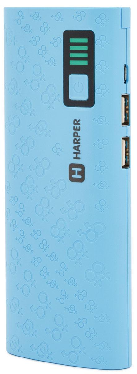 Harper PB-10007, Blue внешний аккумулятор (10000 мАч)H00001313Harper PB-10007 – компактный, удобный, стильный и очень емкий внешний аккумулятор для ваших гаджетов.С Harper PB-10007 емкостью в 10000 мАч вы сможете неоднократно перезарядить практически любой смартфон (даже с аккумулятором повышенной емкости) или другую портативную технику.Пауэрбанк оснащен встроенной защитой от коротких замыканий (устройство отключится автоматически), а также специальным смарт-чипом, который отслеживает ток заряда и выстраивает верный алгоритм подачи собственного тока на потребителей.Два USB порта позволяют осуществить одновременное подключение внешних устройств. А для оптимального потребления порты имеют разные значения силы тока (для более слабых и мощных устройств).Подвижная панель со светодиодами позволяет не только использовать Harper PB-10007 в качестве ручного фонаря, но и подсветить USB-разъемы при подключении гаджетов.Любая индикация, как бы мало она не потребляла тока, разряжает встроенный аккумулятор. Инженеры Harper пошли другим путем, отключив автоматическое отображение уровня оставшегося заряда для его экономии. Процедуру можно запустить простым нажатием на кнопку питания. Шкала представляет собой 4 светодиода, каждый из которых соответствует 25% от общего уровня заряда.
