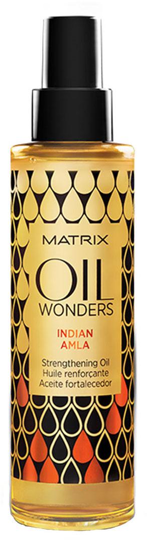 Matrix Oil Wonders Укрепляющее масло индийское амла, 150 млE2082400Ароматное масло восстанавливает структуру ломких и ослабленных волос. Увеличивает прочность волос в 4 раза. Лечит хрупкие волосы от луковицы и досамих кончиков. Возвращает волосам эластичность, мягкость и блеск. Имеетдушистый экзотический аромат, который переносит вас в Индию. В качестве укрепляющих элементов масло Амла содержит кальций, железо,фосфор, файбер-протеин.