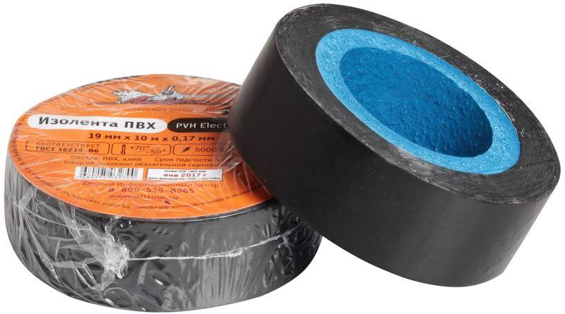 Изолента Airline, цвет: черный, 19 мм х 10 мAIT-P- 11Изоляционная лента ПВХ, которая представлена в широком ассортименте, различается по цветам, ширине ленты и длине намотки. Изолента представляет собой расходный материал, предназначенный для обмотки проводов и кабелей с целью их электроизоляции. Изолента AIRLINE изготавливается из поливинилхлоридной пленки с нанесенным на нее клеевым слоем и полностью соответствует ГОСТу-16214-86.Преимущества:- соответствует ГОСТу;- высший сорт;- высокая сила адгезииДлина ленты (м) - 10 Напряжение пробоя - 5000V Ширина ленты (мм) - 19