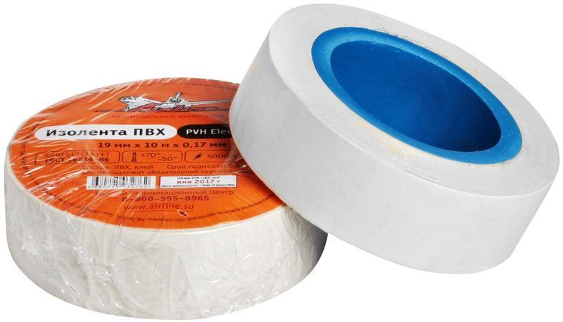 Изолента Airline, цвет: белый, 19 мм х 10 мAIT-P- 14Изоляционная лента ПВХ, которая представлена в широком ассортименте, различается по цветам, ширине ленты и длине намотки. Изолента представляет собой расходный материал, предназначенный для обмотки проводов и кабелей с целью их электроизоляции. Изолента AIRLINE изготавливается из поливинилхлоридной пленки с нанесенным на нее клеевым слоем и полностью соответствует ГОСТу-16214-86. Преимущества: - соответствует ГОСТу; - высший сорт; - высокая сила адгезии Длина ленты (м) - 10Напряжение пробоя - 5000VШирина ленты (мм) - 19