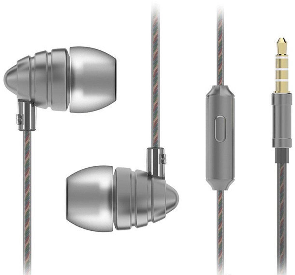 Harper HV-805, Grey наушникиH00000974Наушники Harper HV-805 относятся к классу динамических проводных наушников-вкладышей (внутриканальные). Они обеспечивают отличное качество звука вкупе с дополнительным функционалом (гарнитура для разговора и управление переключением / перемоткой музыки).Кабель наушников имеет оптимальную длину в 1,2 метра и прямой штекер 3,5 мм Jack (он наиболее удобен для портативной техники, носимой в карманах или сумочках).Технические параметры наушников обеспечивают действительно насыщенное звучание басов. Воспроизводимые частоты - 20-20000 Гц (с уклоном в сторону низких частот), импеданс - 32 Ом, чувствительность - 102 дБ, пиковая мощность излучателя - 10 мВт, диаметр излучателя - 10 мм.Микрофон расположен на кабеле правого наушника, на корпусе микрофона имеется кнопка управления треками, она же используется для приема/завершения вызова в режиме телефонной гарнитуры.Управление треками (переключение назад, вперед, воспроизведение, приостановка), а также перемоткой назад и вперед осуществляется за счет нажатия кнопки управления в определенной последовательности (все комбинации изложены в инструкции к наушникам).Комбинации управления работают только с операционными системами Android (версия 4.3 и выше) и iOS (версия 5 и выше).