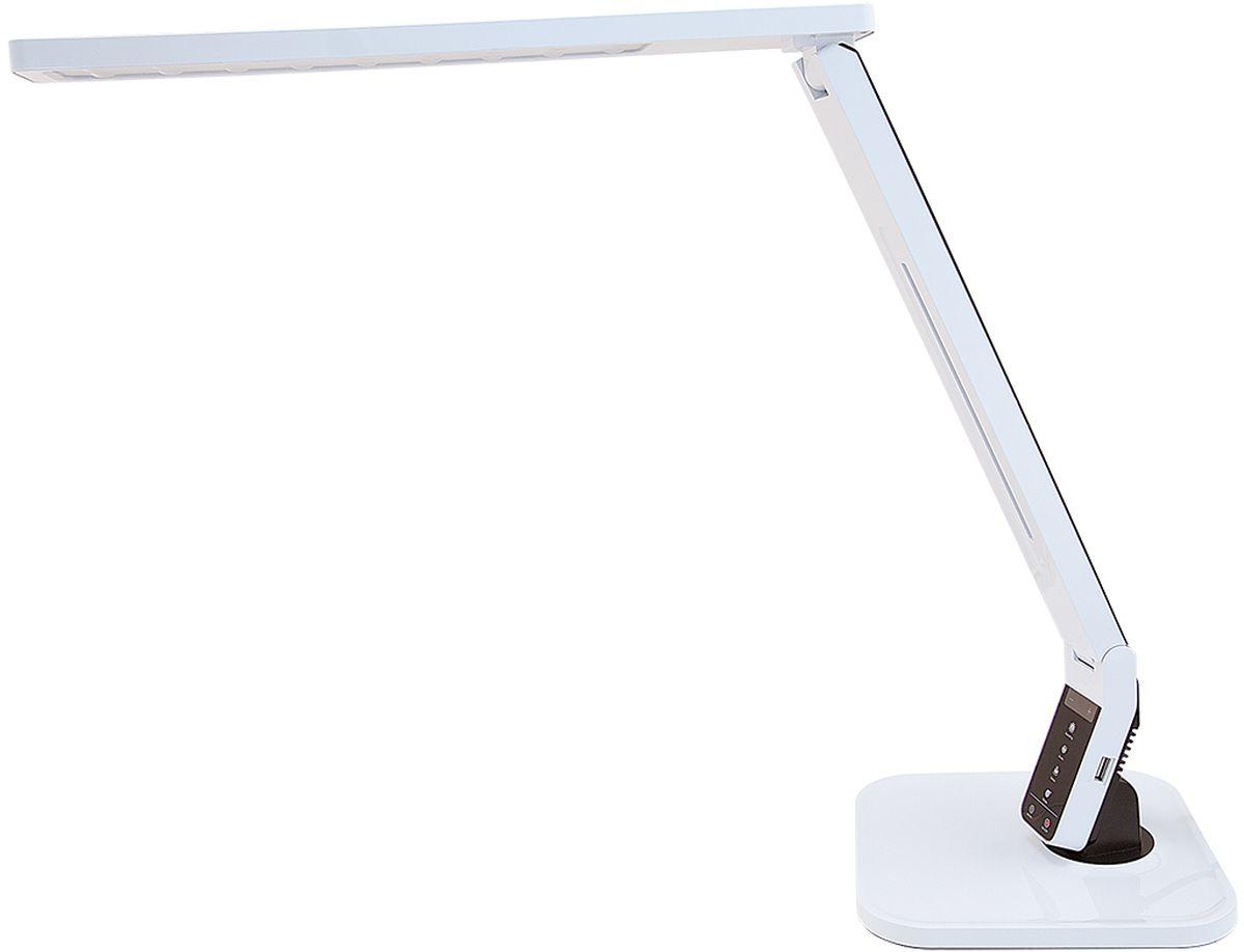 """Светодиодный настольный светильник модель L700 Smart. Предназначен для местного освещения внутри помещений. Напряжение сети 230 В, частота 50 Гц. Цветопередача Ra > 90.- USB-разъем для подзарядки 5 В 1.5 А- Cенсорное управление- 4 режима. Цветовая температура света в диапазоне от 2700 до 6600 К- Дискретное изменение яркости свечения (5 уровней)- Запоминание выбранного уровня яркости в каждом режимеИсточник света: SMD светодиоды, 27 шт.Регулировка направления светаКнопки: уменьшение/увеличение яркостиКнопка: режим """"чтение""""Кнопка: режим """"учеба""""Кнопка: режим """"релаксация""""Кнопка: режим """"сон""""Кнопка: таймер на 60 минКнопка: включение/ выключениеUSB-разъем для зарядкиРазъем для адаптера для сети 230 В"""