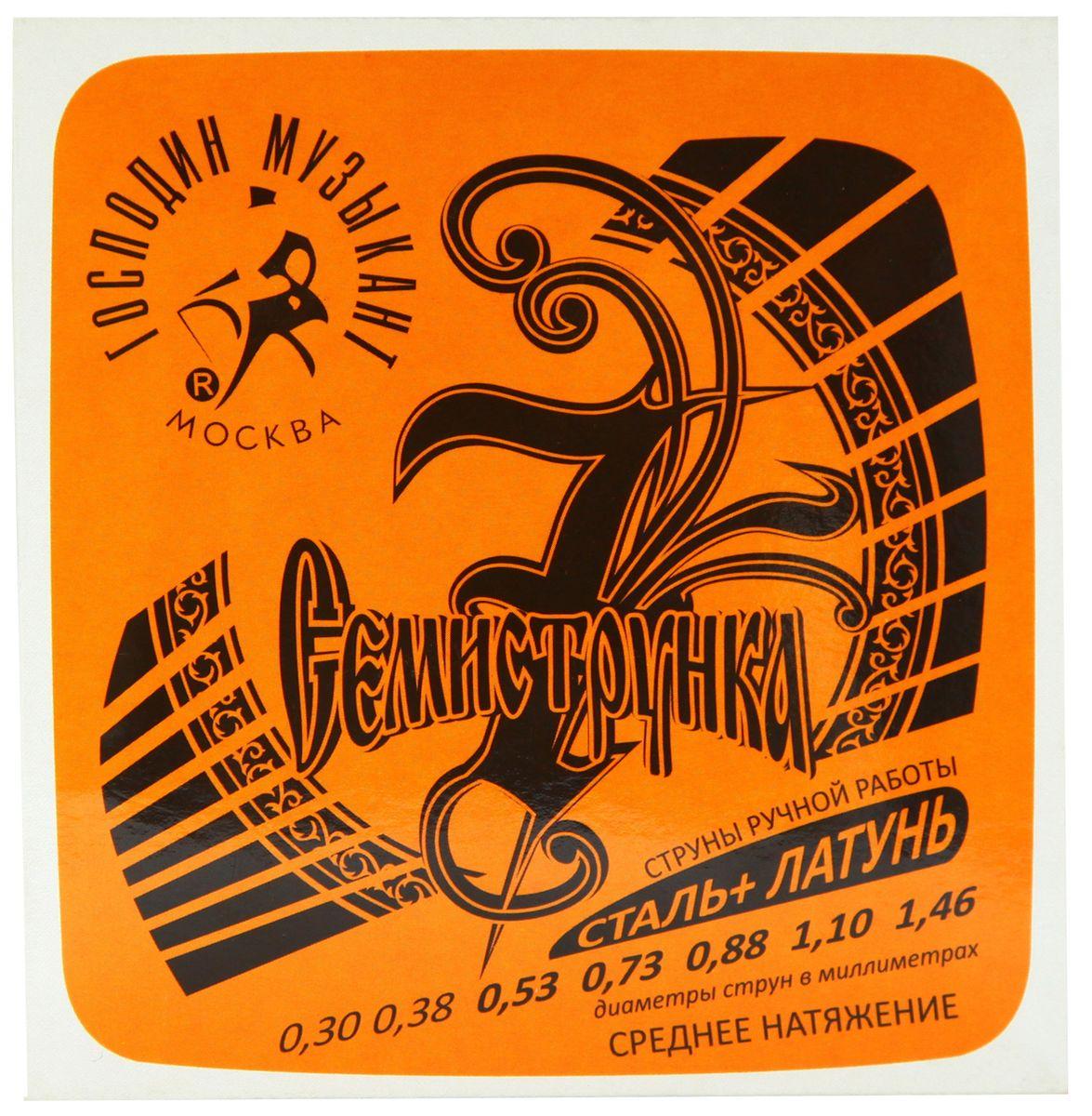 Господин Музыкант R-12 Семиструнка, Gray струны для акустической гитарыPH3849R12 СЕМИСТРУНКА R-12 Комплект струн для 7струнной акустической гитары (сталь+Л85), D-B-G-D-B-G-D Господин музыкант