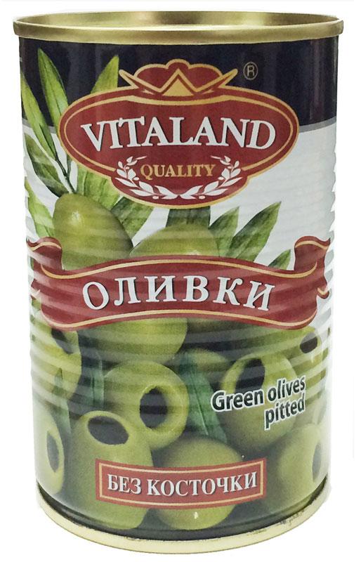Vitaland оливки без косточки, 314 мл lutik оливки зеленые с анчоусом 314 мл