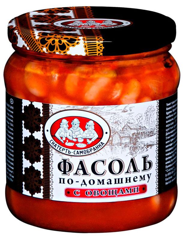 Скатерть-Самобранка фасоль с овощами, 450 мл4607067557544Фасоль в томатном соусе с овощами по-домашнему рецепту. Готовое блюдо станет превосходной закуской на праздничном столе.