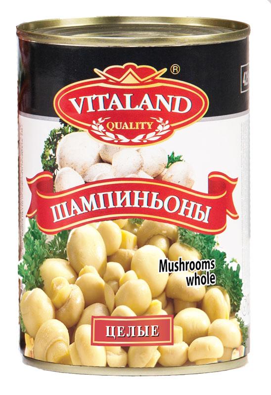 Vitaland шампиньоны целые, 425 мл4041811017319Шампиньоны стерилизованные целые.