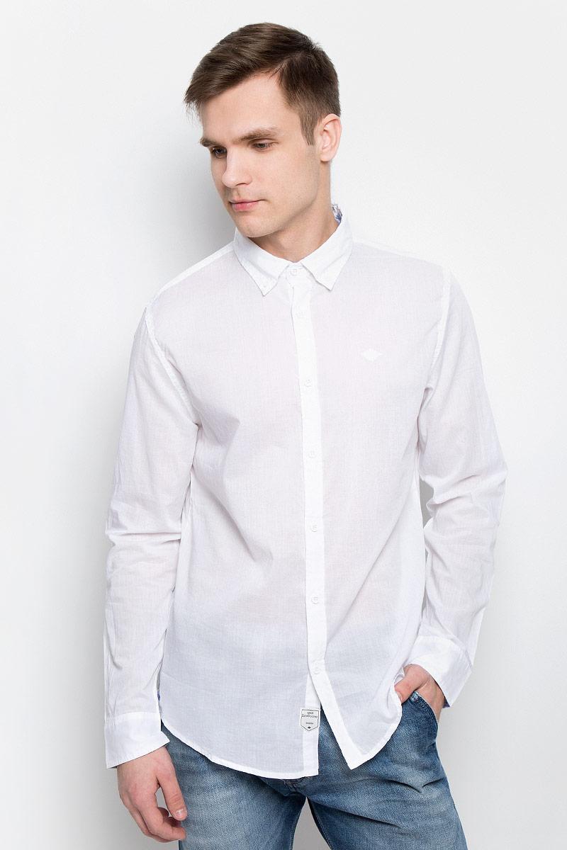 Рубашка мужская Lee Cooper, цвет: белый. DRISS-5607. Размер XXL (56) рубашка мужская lee cooper цвет серый lchmw044 размер xl 52