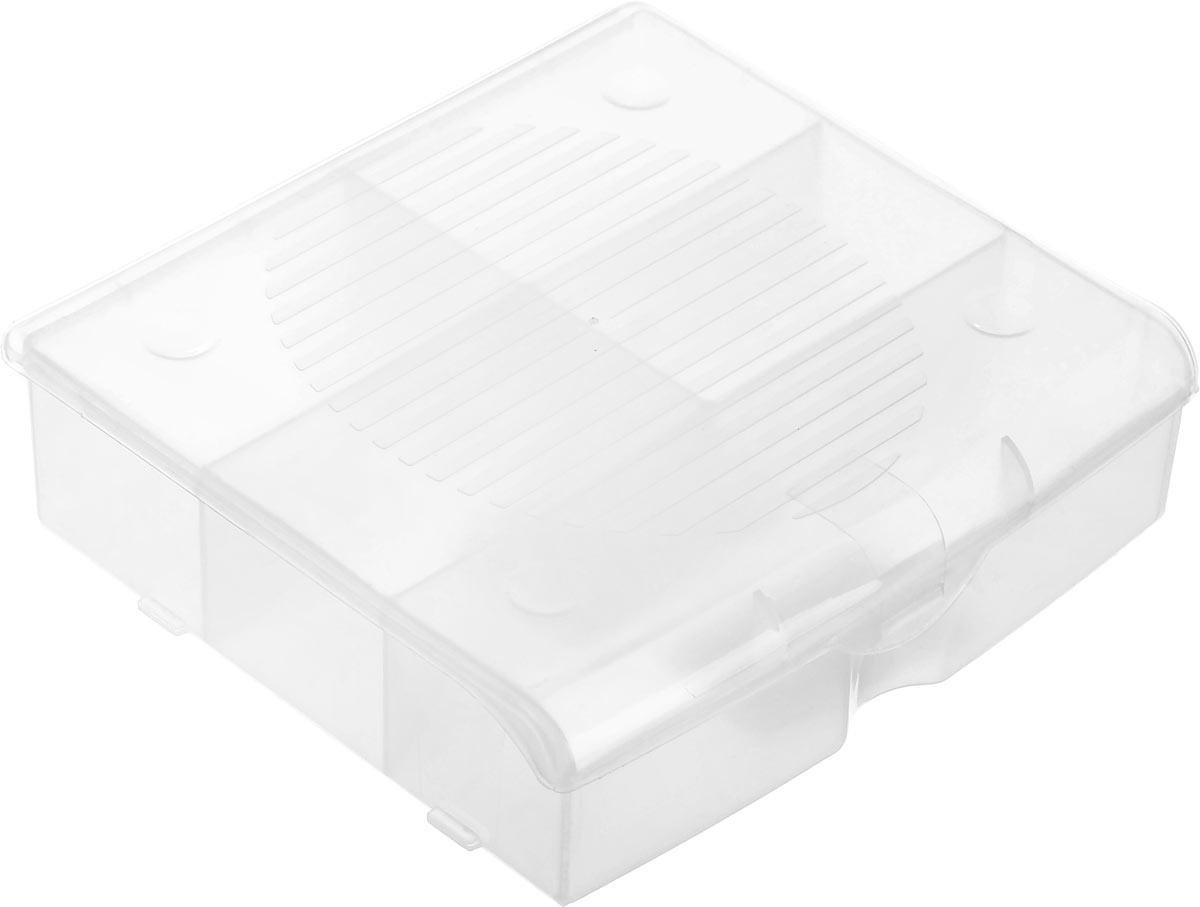 Органайзер для мелочей Blocker, цвет: прозрачный, 14 х 13 х 4,1 смПЦ3712ПРМТОрганайзер для мелочей Blocker предназначен для оптимальной организациипространства. Внутреннее деление делает удобным размещениевнутри блока деталей, которые необходимо отделить друг от друга, а прозрачнаякрышка позволяет увидеть содержимое, не открывая блок. Подходит дляхранения швейных принадлежностей, мелких деталей и рыболовных снастей.Крышка плотно закрывается и предотвращает потерю содержимого. Органайзер содержит 5 отделений: одно большего размера и 4 одинаковых отсека. Размер большего отделения: 13,2 х 3,2 см. Размер одного небольшого отделения: 6,5 х 3,8 см.
