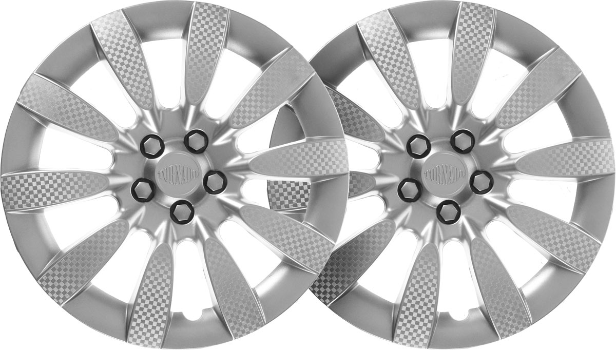 Колпаки колесные Airline Торнадо, цвет: серебристый, 13, 2 шт. AWCC-13-06AWCC-13-06Колпаки колесные Airline Торнадо изготовлены из ударопрочного полистирола, имеют модную текстуру, имитирующую карбон, покрашены в популярные цвета, а также стойкие к повышенным и пониженным температурам. Колпаки снабжены надежными универсальными креплениями, позволяющими обеспечивать равномерное распределение давления на все защелки. Колпаки Airline защитят тормозную систему от грязи, соли и реагентов, скроют изъяны штампованных дисков, тем самым украсив ваш автомобиль.