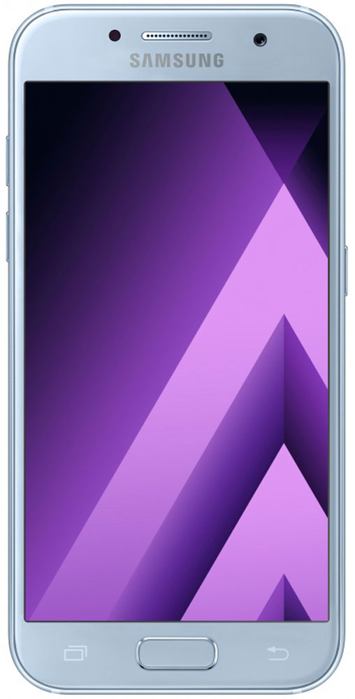 Samsung SM-A320F Galaxy A3 (2017), BlueSM-A320FZBDSERСовременный минималистичный корпус из 3D-стекла и металла, а также 4,7-дюймовый экран HD sAMOLED - все это отличительные черты Samsung Galaxy A3 (2017).Плавные линии корпуса, отсутствие выступов камеры, утонченная и элегантная отделка позволяют получить настоящее удовольствие от использования смартфона.Будьте законодателями трендов, а не просто следуйте им. Стильные цветовые решения идеально гармонируют с корпусом из стекла и металла, создавая динамичный и цельный образ. Четыре модных цвета на выбор превосходно дополнят ваш стиль.Запечатлите памятные моменты. Благодаря высокому разрешению основной камеры в 13 Mп фотографии всегда будут яркими и красочными.Вместе с Galaxy A3 (2017) почувствуйте себя профессиональным фотографом. Наличие широкого выбора фильтров позволяет подойти к процессу съемки более креативно. Теперь каждая фотография будет особенной.Благодаря высокому разрешению фронтальной камеры в 8 Mп фотографии всегда будут красочными и детализированными. Новая Smart-кнопка сделает процесс съемки еще более простым - теперь вы сами можете выбирать расположение кнопки затвора.Стандарт защиты от воды и пыли IP68 позволяет комфортно использовать смартфоны Galaxy A3 (2017) в любых условиях - будь то дождь или бассейн.Наслаждайтесь играми или просмотром видео еще дольше благодаря увеличенному объему аккумулятора.Разделяете работу и личную жизнь, удаляете старый контент, так как недостаточно памяти? Выбирайте то, что удобно вам: слот для 2-ой SIM-карты или карты памяти объемом до 256 ГБ.С функцией Always On Display вся актуальная информация всегда на экране. Просматривайте время, события в календаре и непрочитанные уведомления даже если смартфон находится в спящем режиме.Храните конфиденциальную информацию в защищенной папке. Благодаря безопасной среде KNOX вы можете быть уверены, что ваша личная информация не попадет в чужие руки.Простое подключение. Симметричный разъем кабеля USB type-C удобно использовать любой 