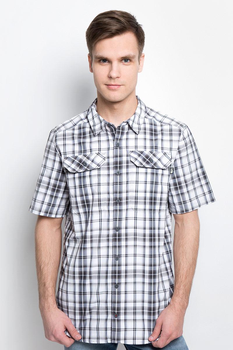 Рубашка мужская The North Face M S/S Pine Knot, цвет: серый, белый. T92S7XU34. Размер XXL (56) рубашка levi s®