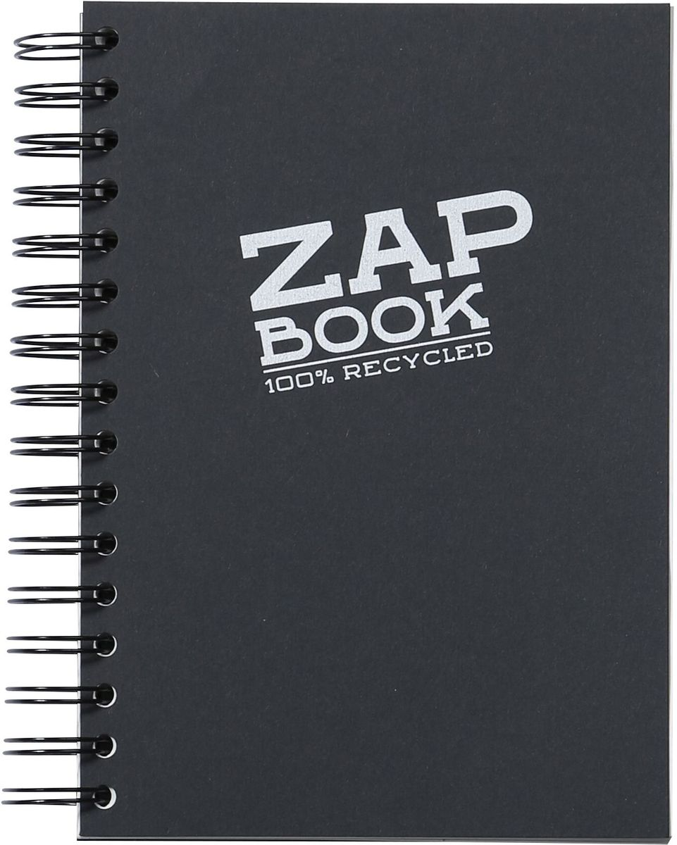 Блокнот Clairefontaine Zap Book, на спирали, цвет: черный, формат A4, 160 листов8363СОригинальный блокнот Clairefontaine идеально подойдет для памятных записей, любимых стихов, рисунков и многого другого. Плотная обложкапредохраняет листы от порчи изамятия. Такой блокнот станет забавным и практичным подарком - он не затеряется среди бумаг, и долгое время будет вызывать улыбку окружающих.