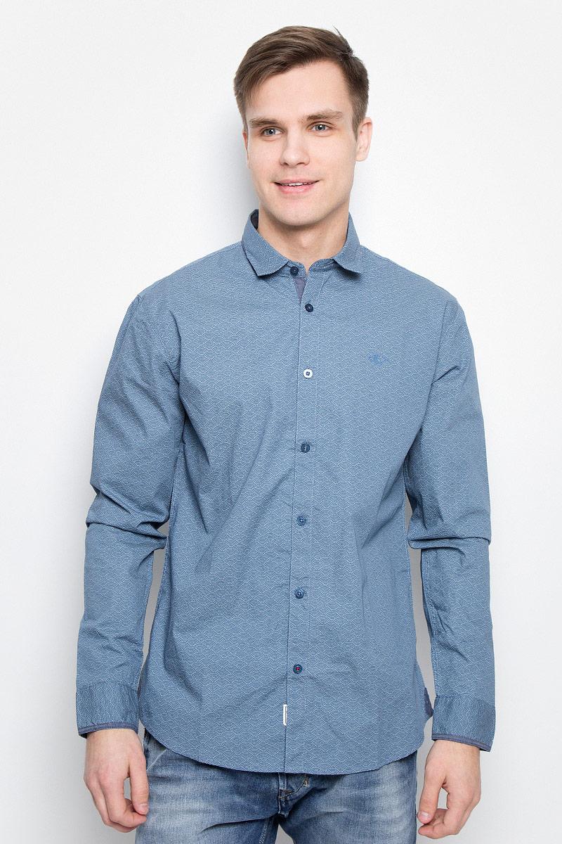 Купить Рубашка мужская Lee Cooper, цвет: синий. DRAZIK-5606. Размер M (46)