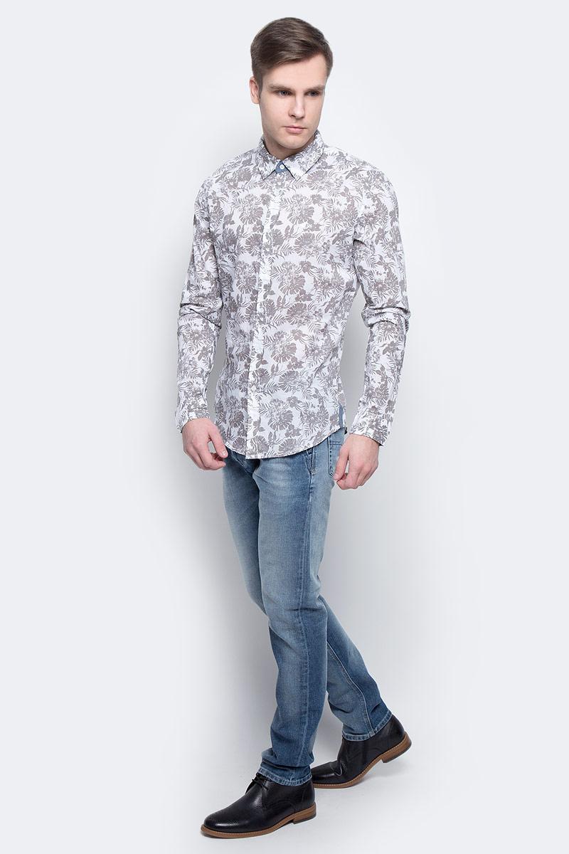 Рубашка мужская Lee Cooper, цвет: бежевый. DEUS-5592. Размер XL (54) рубашка мужская lee cooper цвет синий drazik 5606 размер xl 54