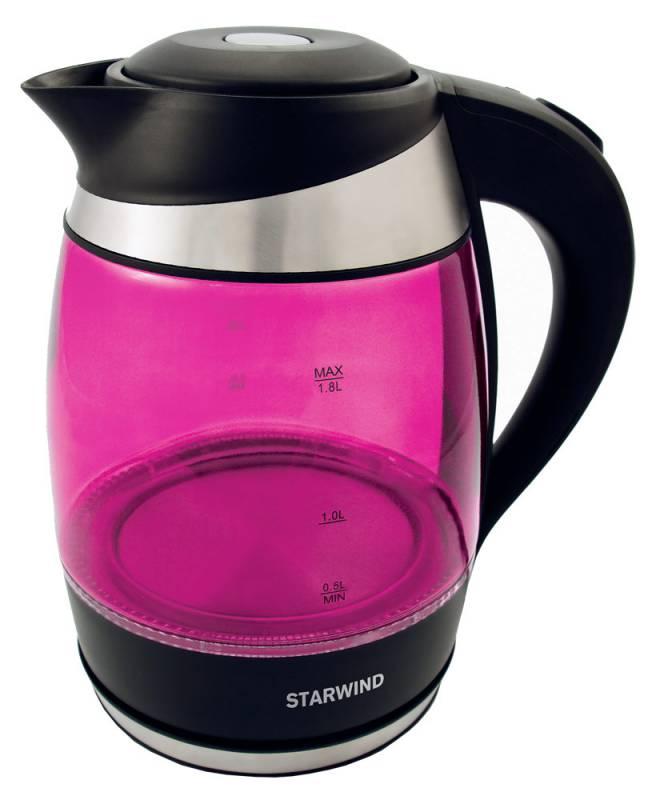 Starwind SKG2214, Pink чайник электрическийSKG2214Электрический чайник Starwind SKG2214 прост в управлении и долговечен в использовании. При его производстве используются высококачественные материалы. Мощность 2200 Вт быстро вскипятит 1,8 литра воды. Для обеспечения безопасности при повседневном использовании предусмотрена функция автовыключения.