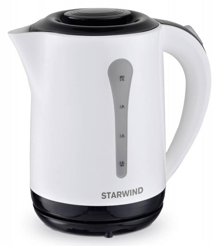 Starwind SKP2212, White Black чайник электрический starwind sbr4163 black silver хлебопечь