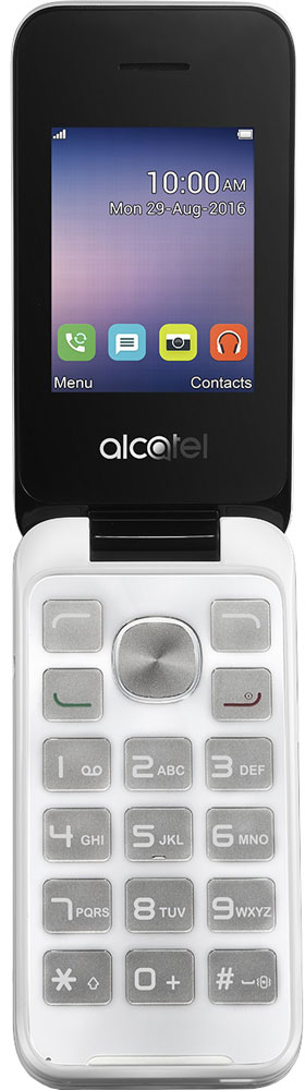Alcatel OT-2051D, White кнопочный телефон alcatel 2051d pure white