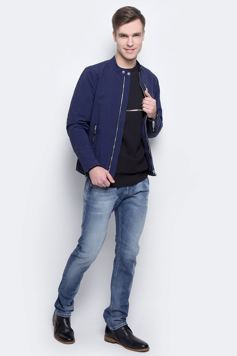 Куртка мужская Diesel, цвет: синий. 00SVTV-0EAOR/8AT. Размер XL (54) стандартные куртки