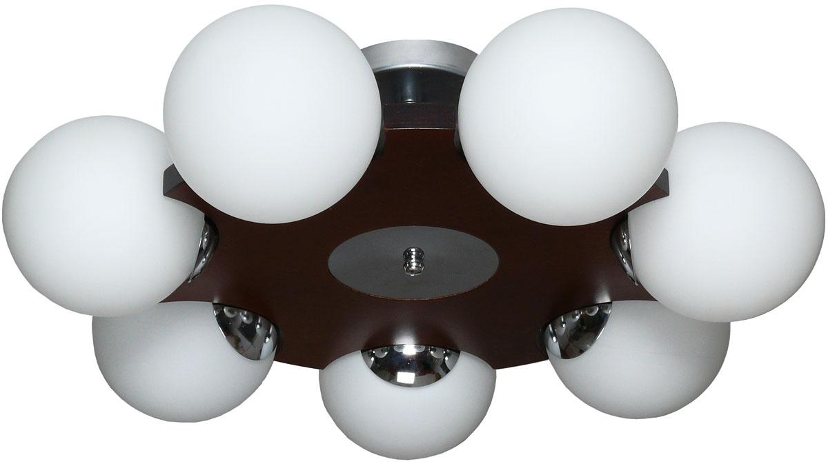 Люстра потолочная Аврора Буйки, 7 х E14, 60 W. 10035-7C