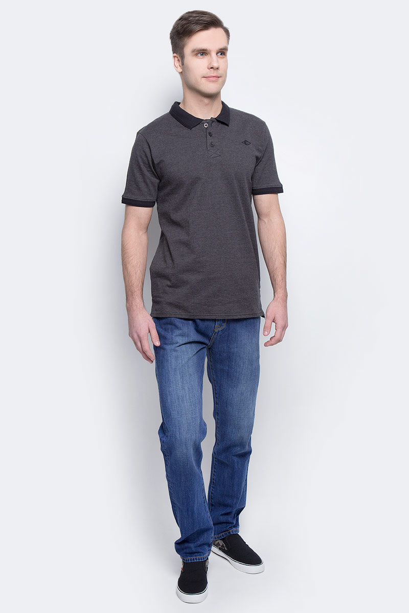 Поло мужское Lee Cooper, цвет: серый. BIKE-5567. Размер XL (50/52) dc shoes ремень dc shoes chinook washed indigo fw17 one size