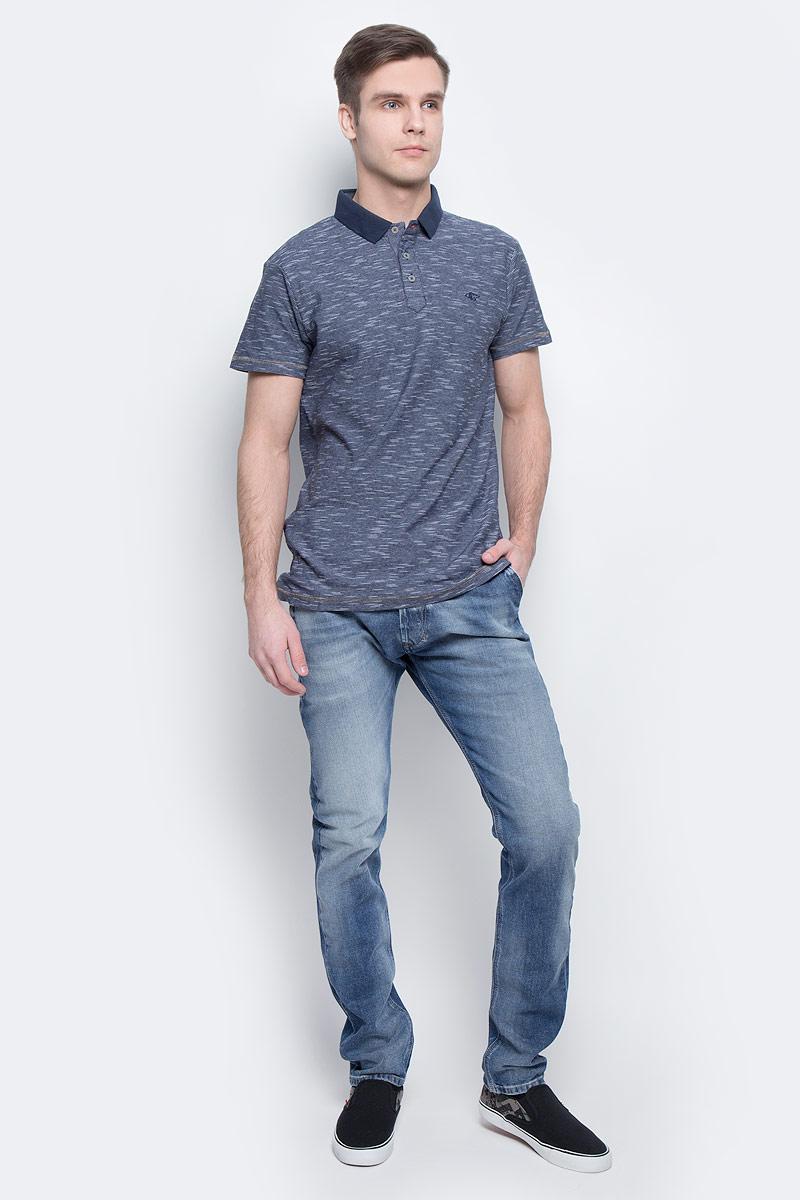 Поло мужское Lee Cooper, цвет: синий. BRONKO-1. Размер M (46/48)BRONKO-1