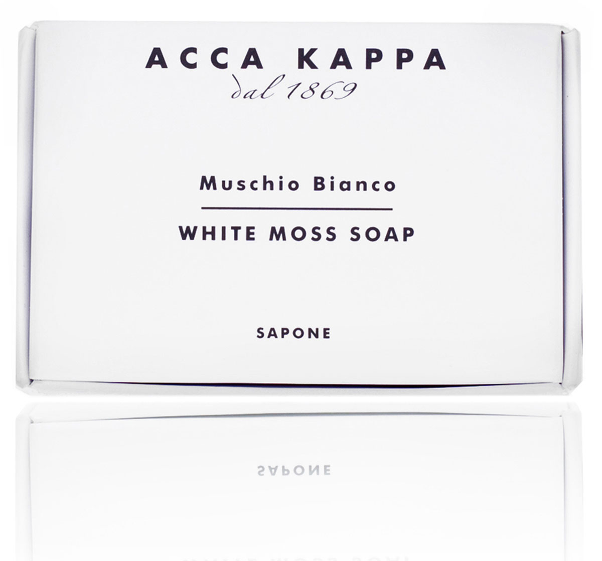 Acca Kappa Мыло туалетное Белый Мускус 100 гр853220Мыло создано с использованием традиционных методов из сырья исключительно растительного происхождения.