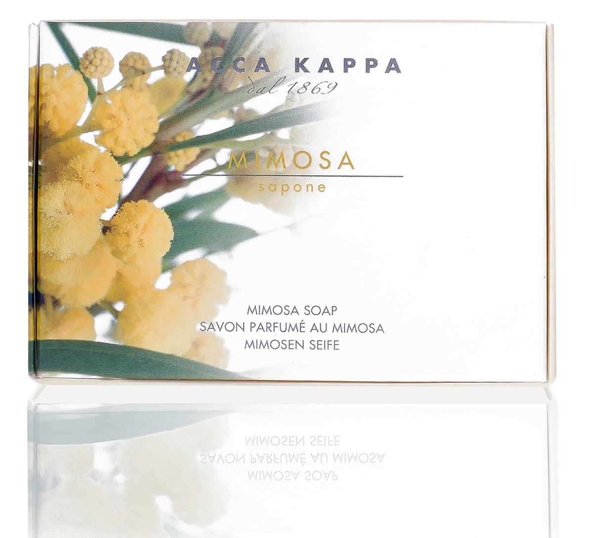 Acca Kappa Мыло туалетное Мимоза 150 гр853342Мыло создано с использованием традиционных методов из сырья исключительно растительного происхождения.