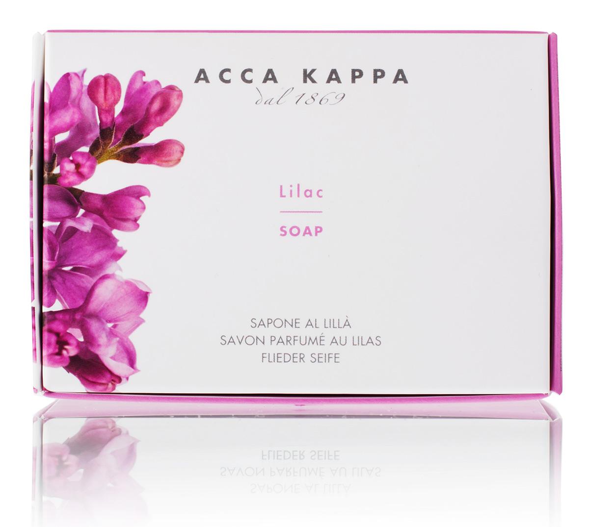 Acca Kappa Мыло туалетное Сирень 150 гр853359Мыло создано с использованием традиционных методов из сырья исключительно растительного происхождения.