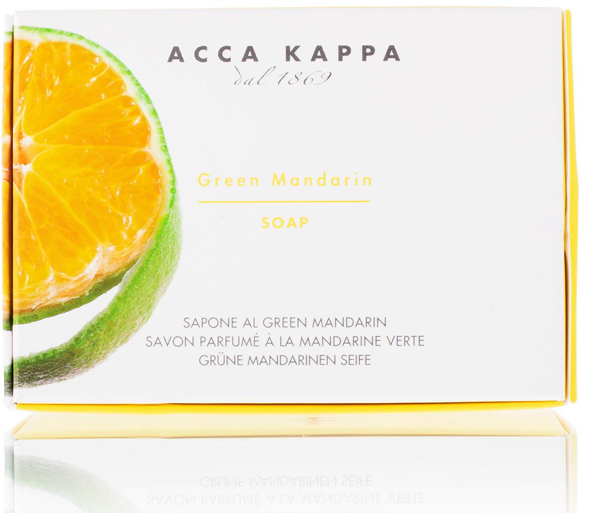 Acca Kappa Мыло туалетное Зеленый Мандарин 150 гр растительное мыло acca kappa глициния 150 г