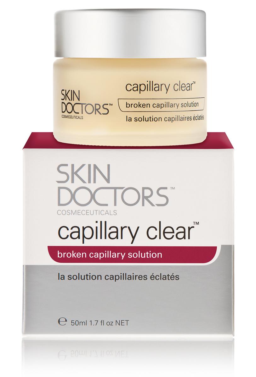 Skin Doctors Крем для кожи Capillary Clear с проявлением купероза, 50 мл2276Крем для кожи с проявлениями купероза устраняет сеточки поврежденных капилляров, красные прожилки и возрастные пигментные пятна. Характеристики:Объем: 50 мл. Производитель: Австралия.Артикул: 2276. Товар сертифицирован.