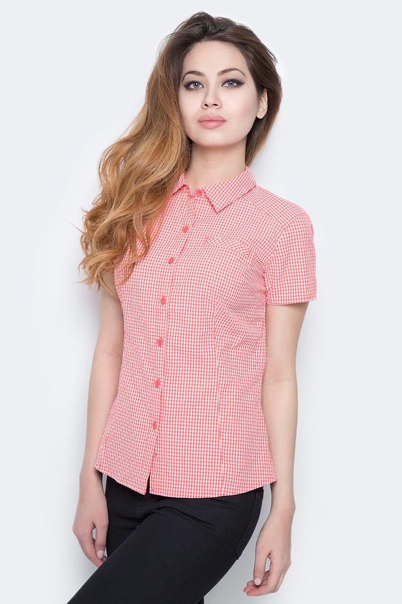 Рубашка женская The North Face W S/S Bryce Shirt, цвет: красный, белый. T0CD8UNXG. Размер XS (40) рубашка женская kepler shirt w цвет зеленый 1401723 7734 размер m 46 48