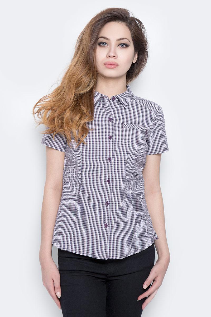 Рубашка женская The North Face W S/S Bryce Shirt, цвет: фиолетовый, белый. T0CD8UNXE. Размер XS (40) рубашка женская kepler shirt w цвет зеленый 1401723 7734 размер m 46 48