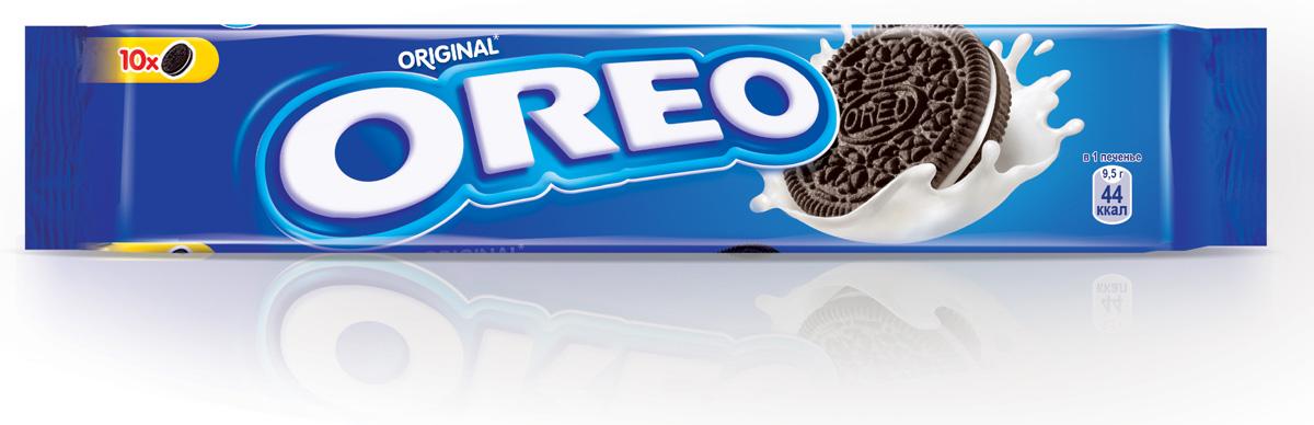 Oreo печенье, 95 г4008560Печенье Oreo любит весь мир.Взрослым и детям нравится забавный способ которым едят Oreo. Покрути+Лизни+Обмакни=Oreo. Попробуйте, это весело и очень легко. C какао и начинкой с ванильным вкусом.Пищевая ценность в 100 г: белки - 4,9 г; углеводы - 68 г, в том числе сахара - 36,5 г; жиры - 20,8, в том числе насыщенные жирные кислоты - 9,7 г; пищевые волокна -1,6 г; натрий - 0,4 г.В упаковке 10 шт.