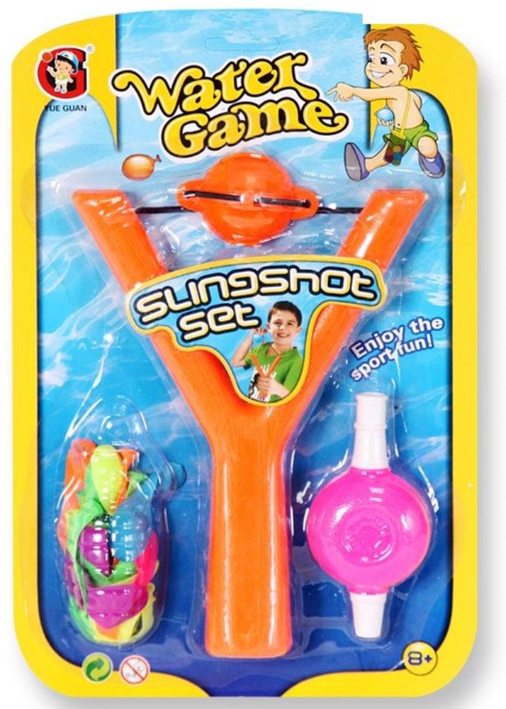 YG Sport Рогатка Водяные бомбочки цвет оранжевый как клетки в игре бомбочки