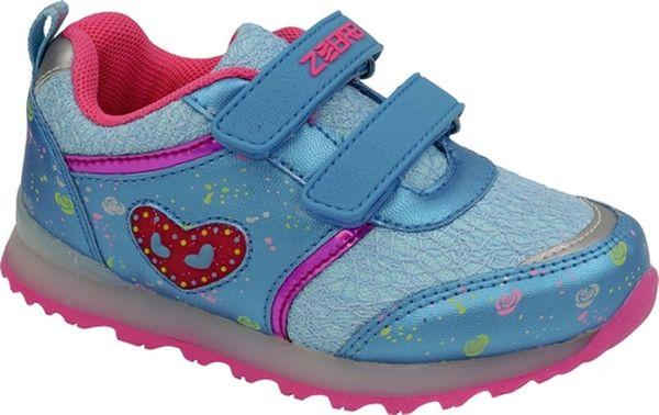 Кроссовки для девочки Зебра, цвет: голубой. 11567-6. Размер 3011567-6Стильные кроссовки от Зебра выполнены из текстиля со вставками из искусственной кожи. Застежки-липучки обеспечивают надежную фиксацию обуви на ноге ребенка. Подкладка выполнена из текстиля, что предотвращает натирание и гарантирует уют. Стелька с поверхностью из натуральной кожи оснащена небольшим супинатором, который обеспечивает правильное положение ноги ребенка при ходьбе и предотвращает плоскостопие. Подошва с рифлением обеспечивает идеальное сцепление с любыми поверхностями.