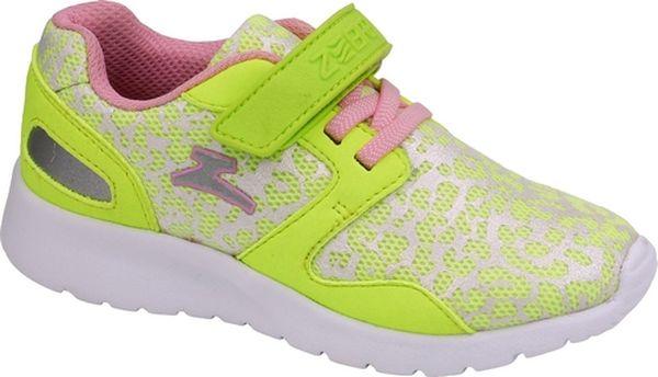 Кроссовки для девочки Зебра, цвет: желтый. 11586-12. Размер 28