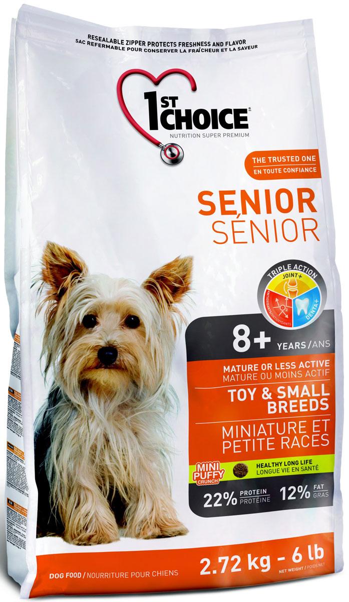 Корм сухой 1st Choice, для пожилых собак миниатюрных и мелких пород, курица, 2,72 кг корм 1st choice утка с картофелем 2 72kg для собак гипоаллергенный 102 323