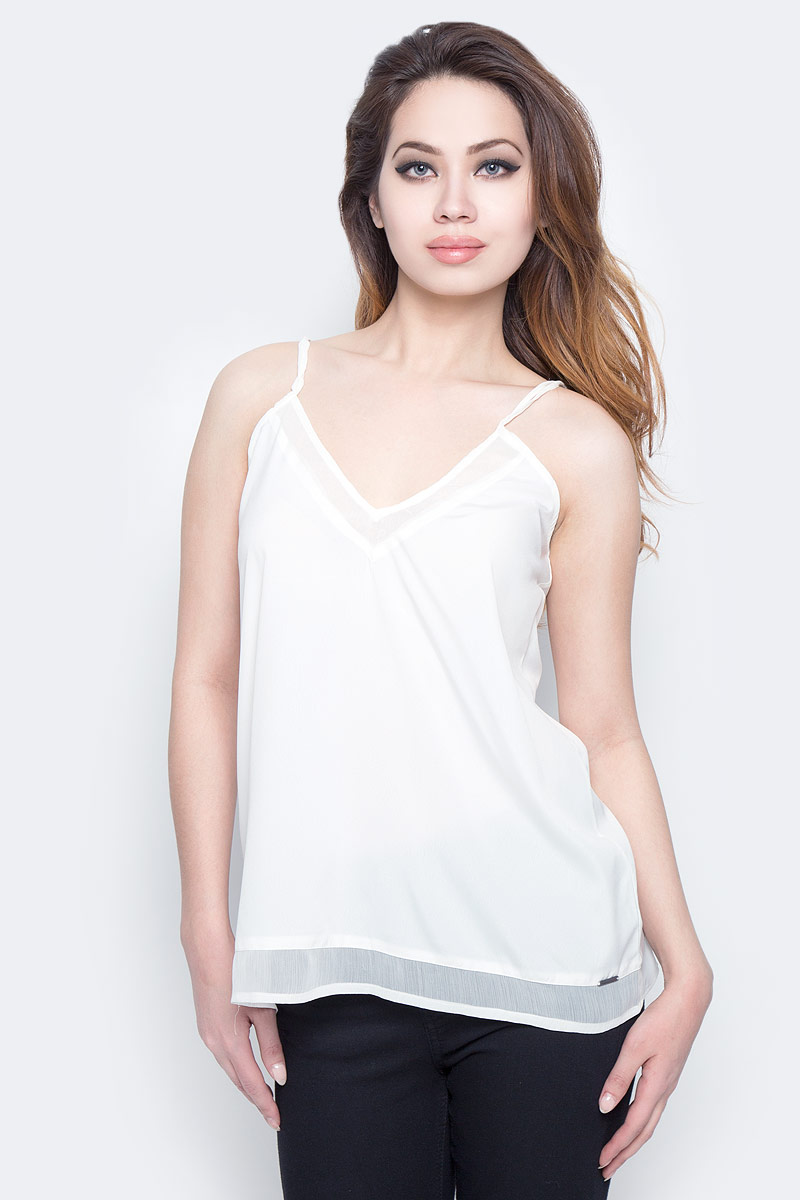 Футболка женская Lee Cooper, цвет: белый. DOLRES-5095. Размер M (46) футболка женская lee цвет белый черный l41erweh размер xs 40