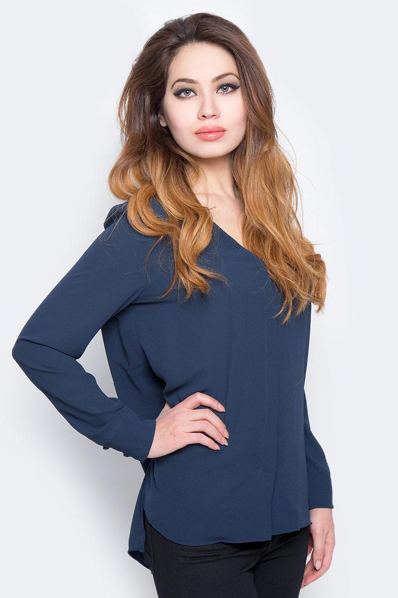 Блузка женская Selected Femme, цвет: синий. 16053871. Размер 38 (44) блузка женская selected femme цвет розовый 16053871 размер 40 46
