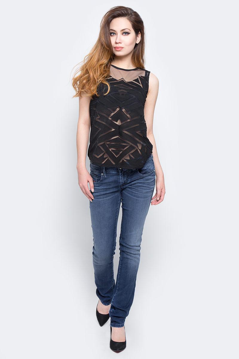 Топ женский Lee Cooper, цвет: черный. ANGY-5506. Размер L (48/50) платье lee cooper цвет белый desire 5094 размер l 50