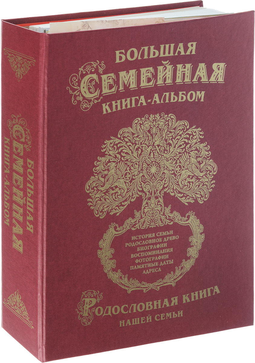 Книга родословная Большая семейная книга-альбом, в футляре книга родословная купить в екатеринбурге