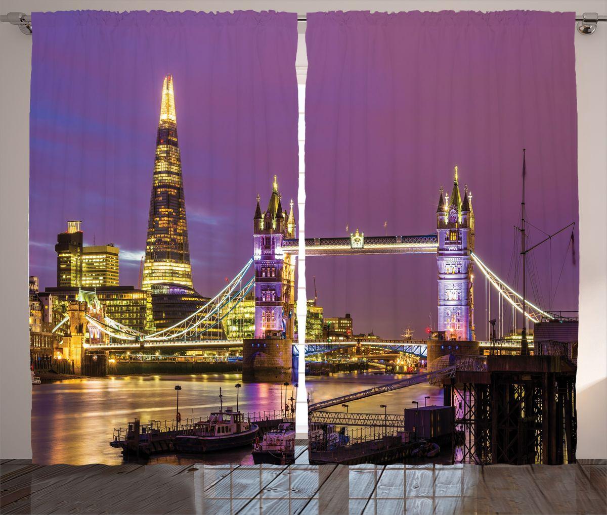 Комплект фотоштор Magic Lady Фиолетовый закат над Лондоном, на ленте, высота 265 см. шсг_14658шсг_14658Компания Сэмболь изготавливает шторы из высококачественного сатена (полиэстер 100%). При изготовлении используются специальные гипоаллергенные чернила для прямой печати по ткани, безопасные для человека и животных. Экологичность продукции Magic lady и безопасность для окружающей среды подтверждены сертификатом Oeko-Tex Standard 100. Крепление: крючки для крепления на шторной ленте (50 шт). Возможно крепление на трубу. Внимание! При нанесении сублимационной печати на ткань технологическим методом при температуре 240°С, возможно отклонение полученных размеров (указанных на этикетке и сайте) от стандартных на + - 3-5 см. Производитель старается максимально точно передать цвета изделия на фотографиях, однако искажения неизбежны и фактический цвет изделия может отличаться от воспринимаемого по фото. Обратите внимание! Шторы изготовлены из полиэстра сатенового переплетения, а не из сатина (хлопок). Размер одного полотна шторы: 145х265 см. В комплекте 2 полотна шторы и 50 крючков.